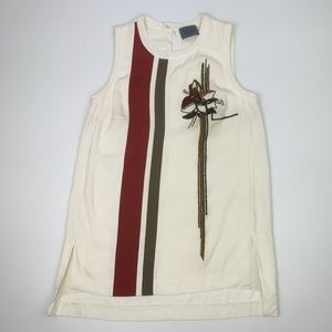 Maiyet Embroidered Beaded Detail Tank Blouse